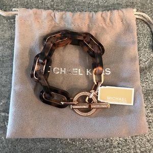 Michael Kors | Tortoise Rose Gold Link Bracelet